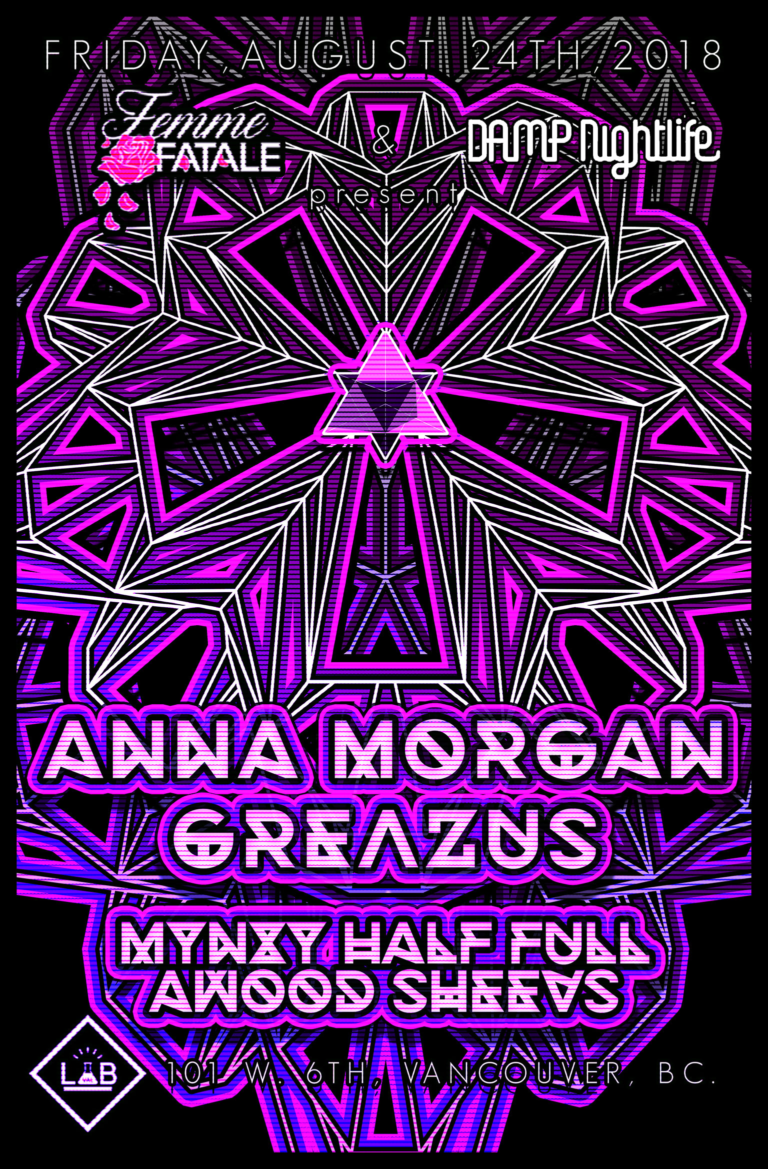 Femme Fatale & Damp Nightlife pres: Anna Morgan x Greazus
