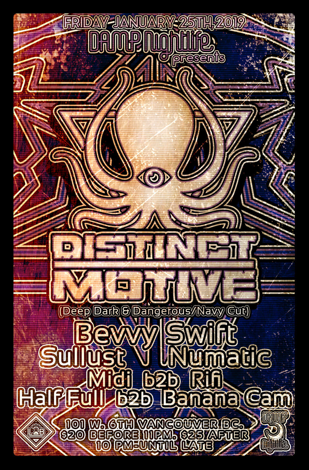 Damp Nightlife pres: Distinct Motive