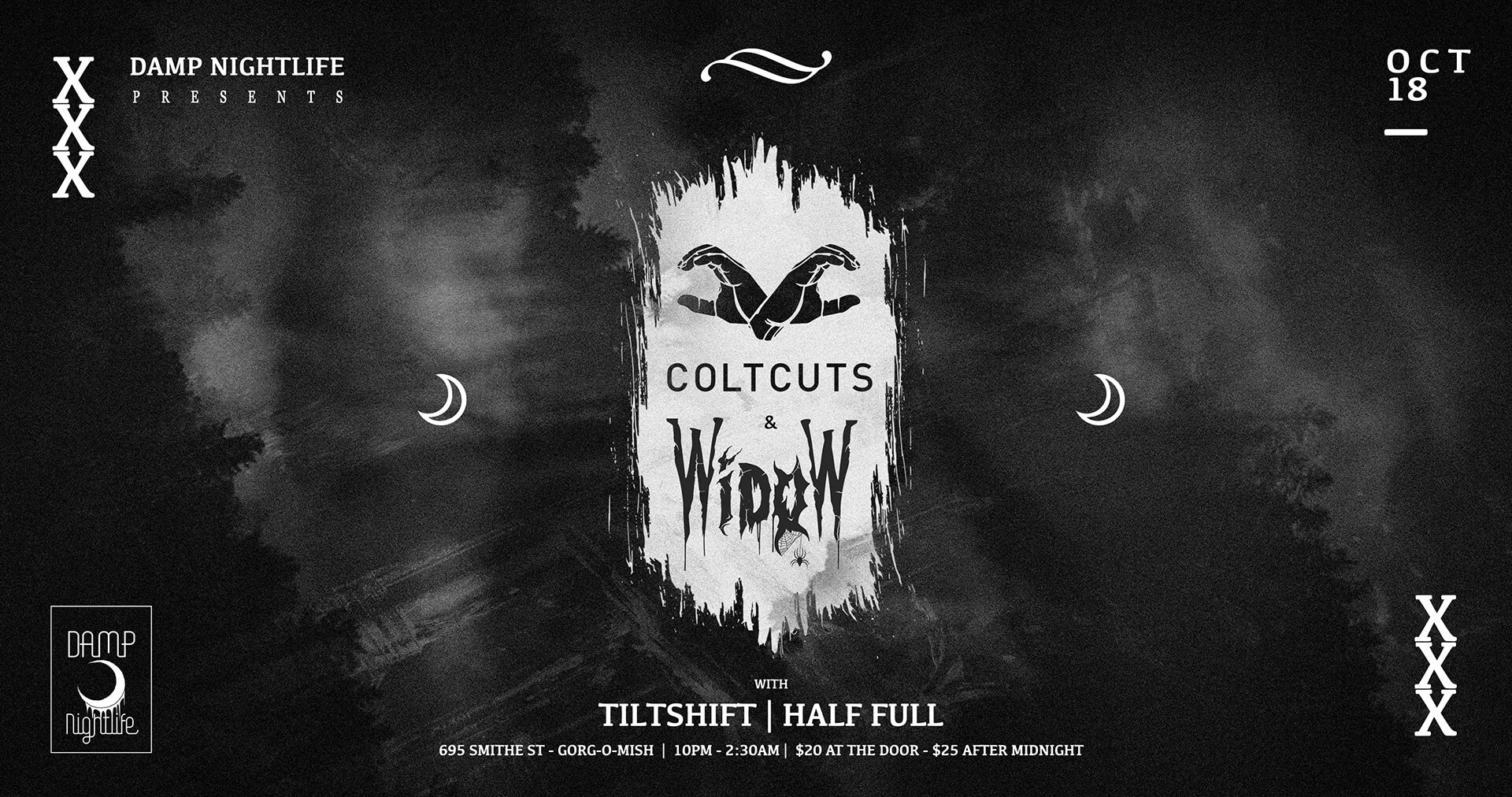 Damp Nightlife pres: ColtCuts x Widow